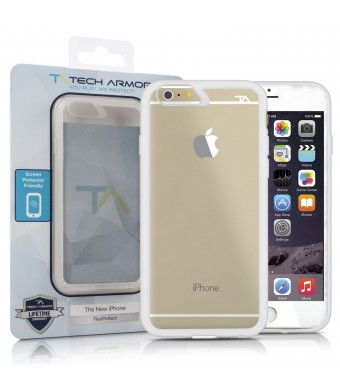Tech Armor iPhone 6 Case, 4.7 inch - FlexProtect Air Frosted Clear/Clear Fingerprint Resistant Scratch Resistant Lifetime Warranty