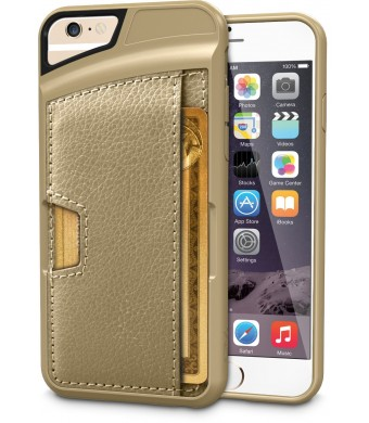 iPhone 6 Wallet Case - Q Card Case for iPhone 6 (4.7 inches) by CM4 - Ultra Slim Protective Carrying Case (Champagne Gold)