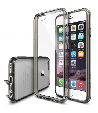 iPhone 6 Case - Ringke FUSION ***All New Dust Free Cap and Drop Protection*** [FREE Screen Protector][SMOKE BLACK] Premium Crystal Clear Back Shock A