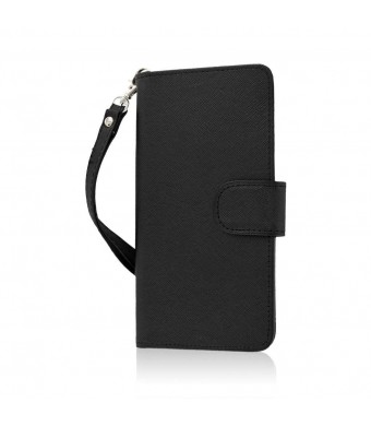 BLU Studio 5.0 S II Wallet Case, MPERO FLEX FLIP Wallet Case for BLU Studio 5.0 S II - Black
