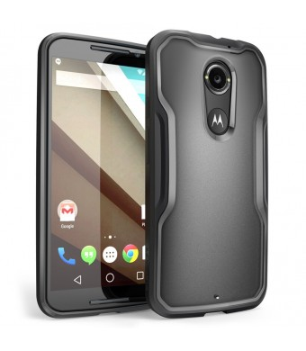 Moto X Case, SUPCASE [Unicorn Beetle Series] for All New Motorola Moto X (2nd Gen.) Phone 2014 Release, Premium Hybrid Bumper Case (Black/Black) - No