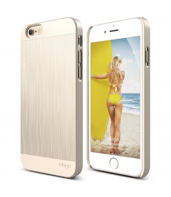 iPhone 6 Case, elago S6 Outfit Matrix Aluminum and Polycarbonate Dual Case for the iPhone 6 (4.7inch) - eco friendly Retail Packaging (Champagne Gold