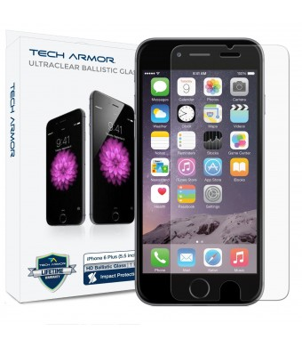 iPhone 6 Plus (5.5 inch ONLY) HD Clear Ballistic Glass Screen Protector - Maximize Your Resale Value - 99.99% Clarity and Touchscreen Accuracy