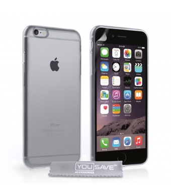 Yousave Accessories iPhone 6 Plus Case Clear Silicone Gel Cover