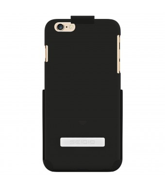 Seidio Surface with Metal Kickstand and Holster Combo for iPhone 6 Plus - Retail Packaging - Black