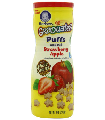 Gerber Graduates Puffs, Strawberry Apple, 1.48-Ounce (pack of 6)