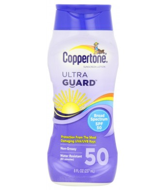 Coppertone Sunscreen Lotion Ultra Guard Broad Spectrum SPF 50, 8 fl oz (237 ml)