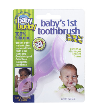 Baby Buddy Baby's 1st Toothbrush, Pink