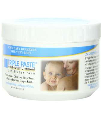 Triple Paste Medicated Ointment for Diaper Rash, 8-Ounce