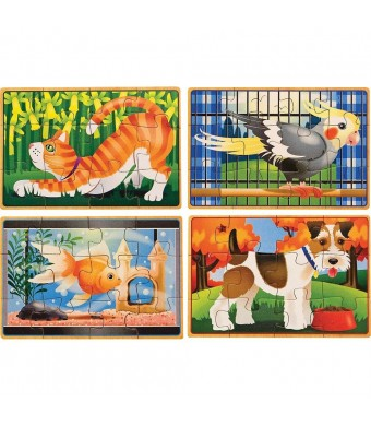 Melissa and Doug Deluxe Pets in a Box Jigsaw Puzzles