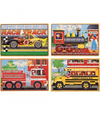 Melissa and Doug Deluxe Vehicles in a Box Jigsaw Puzzles