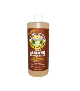 Dr Woods Products Pure Almond Castile Soap with Organic Shea Butter 32 oz