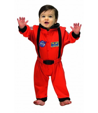 Jr. Astronaut Suit, size 6 to 12 Months (orange)