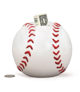 Baseball Shape Piggy Bank For Saving Money And Sports Room Decor