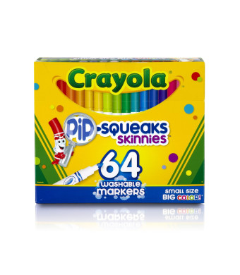Crayola 64 Ct Washable Markers, (58-8764)