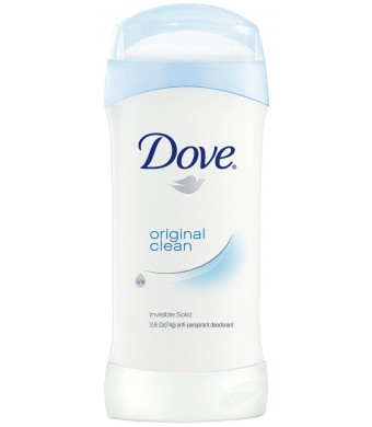Dove Anti-Perspirant Deodorant, Original Clean 2.6 Ounces pack of 6