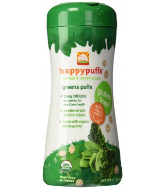 Happy Baby Organic Green Puffs, 2.1000-ounces (Pack of6)