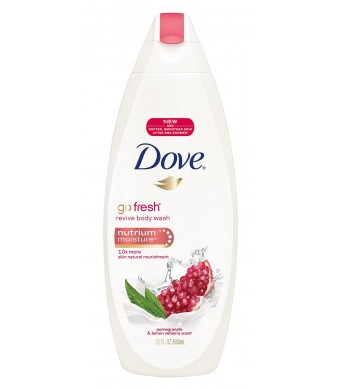 Dove go fresh Body Wash, Revive, Pomegranate and Lemon Verbena, 22 oz (2 pack)