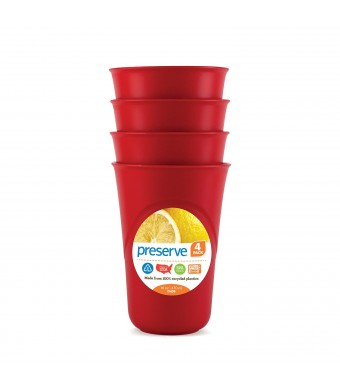 Preserve Everyday Cup, 16-Ounce, Pepper Red, 4-Pack