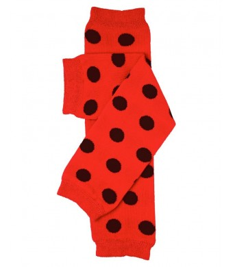 juDanzy red and black ladybug baby toddler and child leg warmers