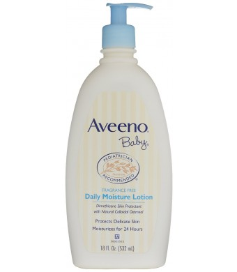 Aveeno Baby Daily Moisture Lotion, Fragrance Free, 18 Ounce