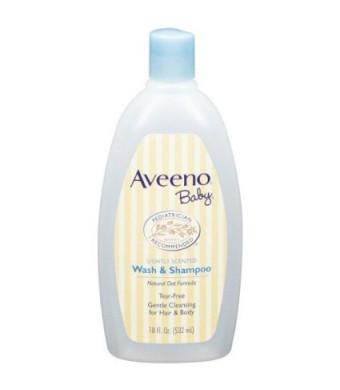 Aveeno Baby Wash and Shampoo - 18 Oz 2/pack