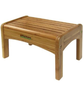Growing Up Green Wood Step Stool, Natural