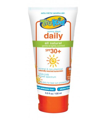 TruKid Sunny Days Daily SPF 30 Plus UVA/UVB Sunscreen Lotion, 3.5 Ounce