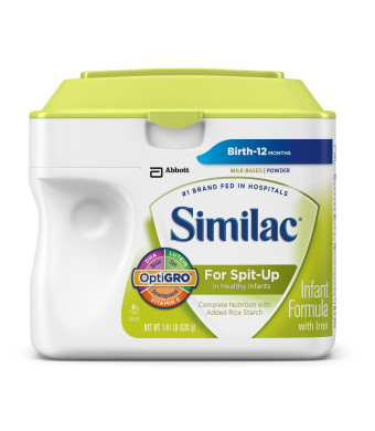 Similac For Spit-Up Infant Formula with Iron, Powder, 1.41 Pounds (Packaging May Vary)