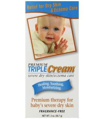 Triple Cream Severe Dry Skin/Eczema Care, 2-Ounce