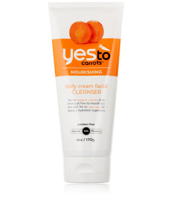 Yes To Carrots Daily Cream Facial Cleanser, 6 Fluid Ounce