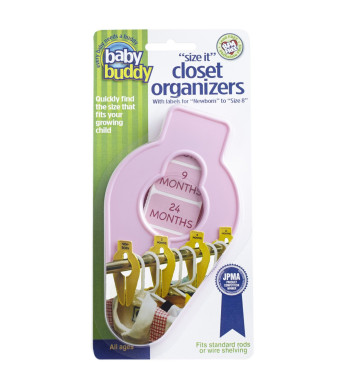 "Baby Buddy ""Size-It""  Closet Organizers, Pink"