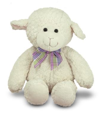 "Melissa and Doug Princess Soft Toys 16""  Plush Lovey Lamb"