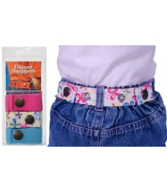 Dapper Snapper Baby and Toddler Adjustable Belt 3 Pack Hot Pink, Butterflies and Turquoise