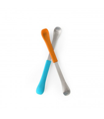 Boon Swap Baby Utensils,Blue/Orange