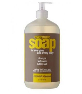 Everyone 3-in-1 Soap Coconut plus Lemon, 32 Ounce
