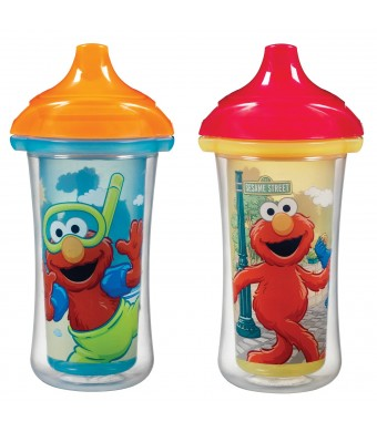Munchkin 2 Count Sesame Street Click Lock Insulated Sippy Cup, 9 Ounce