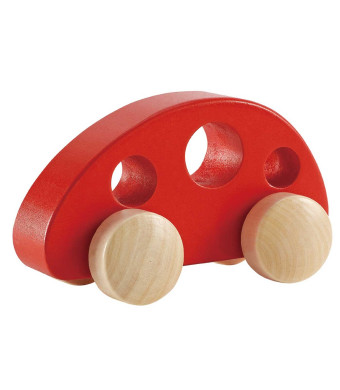 Hape - Mini Van - Solid Maple in Red
