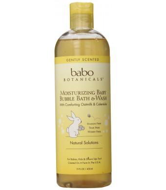 Babo Botanicals Moisturizing Bubble Bath and Wash, 15oz