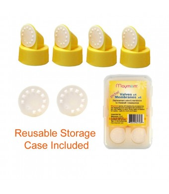 Replacement Valve and Membrane for Medela Breastpumps (Swing, Lactina, Pump in Style), 4x Valves/6x Membranes, Part #87089