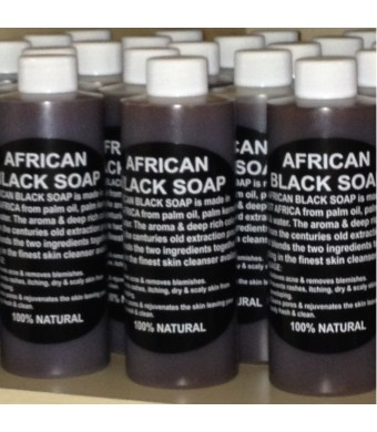 100% Pure Authentic Liquid African Black Soap From Ghana 16oz.
