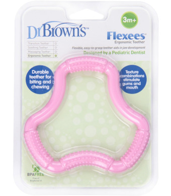 Dr. Brown's A Shaped Teether, Pink Flexees