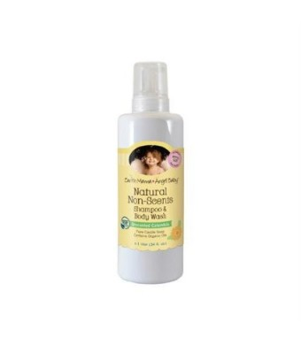 Earth Mama Angel Baby Natural Non-Scents Body Wash and Shampoo Unscented Organic Castile Soap Liter, 34 fl. oz.