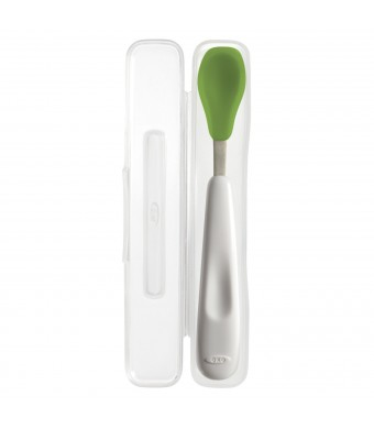 OXO Tot On-the-Go Feeding Spoon with Travel Case- Green