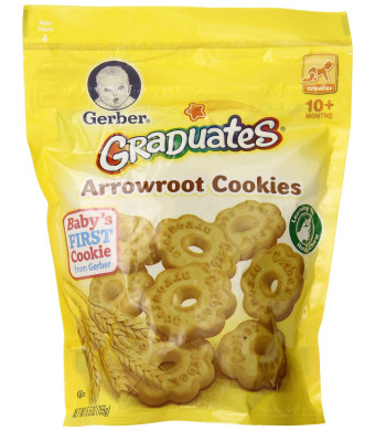 Gerber Graduates Arrowroot Cookies Pouch, 5.5 Ounce (Pack of 4)