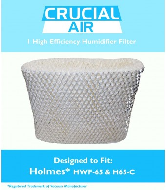 1 Holmes HWF-65 and H65-C Humidifier Wick Filter, Fits Holmes HWF-65 and H65-C, Designed and Engineered by Crucial Air