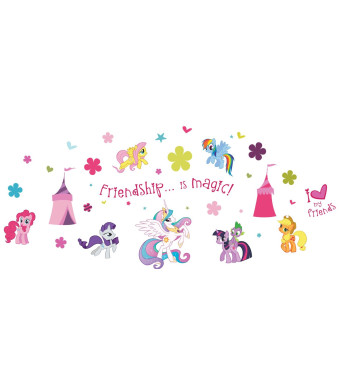 My Little Pony ST0634 ST0634 My Little Pony Wall Stickers, 39 reusable stickers