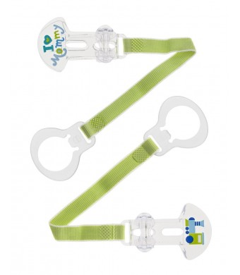 MAM I Love Mommy Double Pacifier Clip, Boy