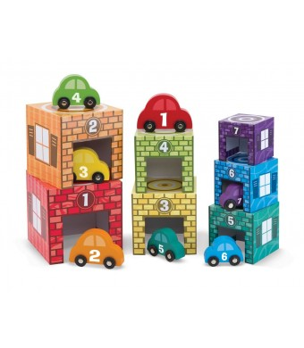 Melissa and Doug Nesting, Sorting Garages and Cars