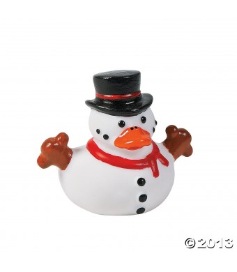 Snowman Rubber Ducky Duckies Ducks - 12 ct